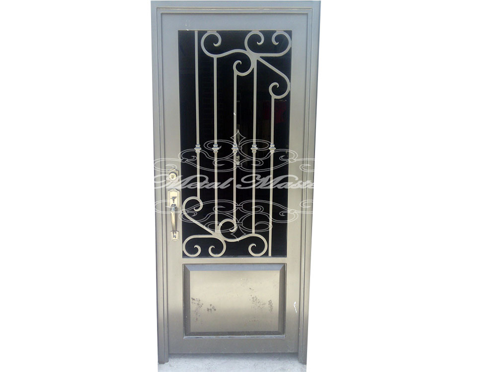 Fotos de puertas de metal pictures to pin on pinterest for Puertas principales de metal