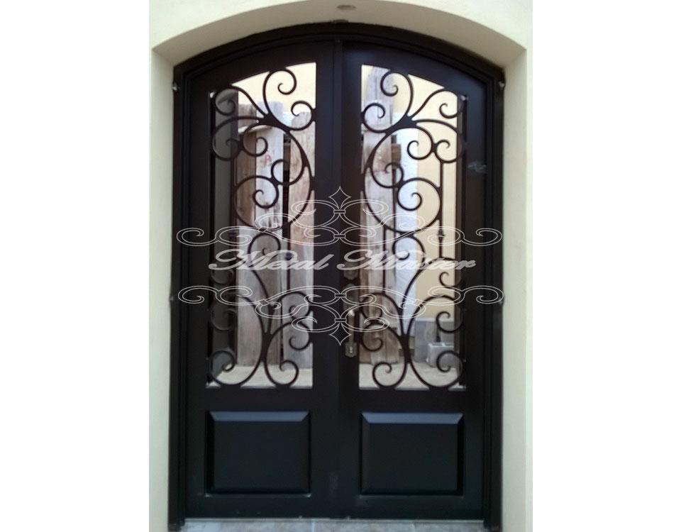 Puertas de forja perfect puerta en forja de dos hojas for Puertas correderas de forja