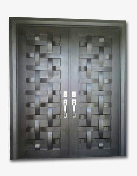 Metal master especialista en puertas residenciales for Puertas de metal con diseno