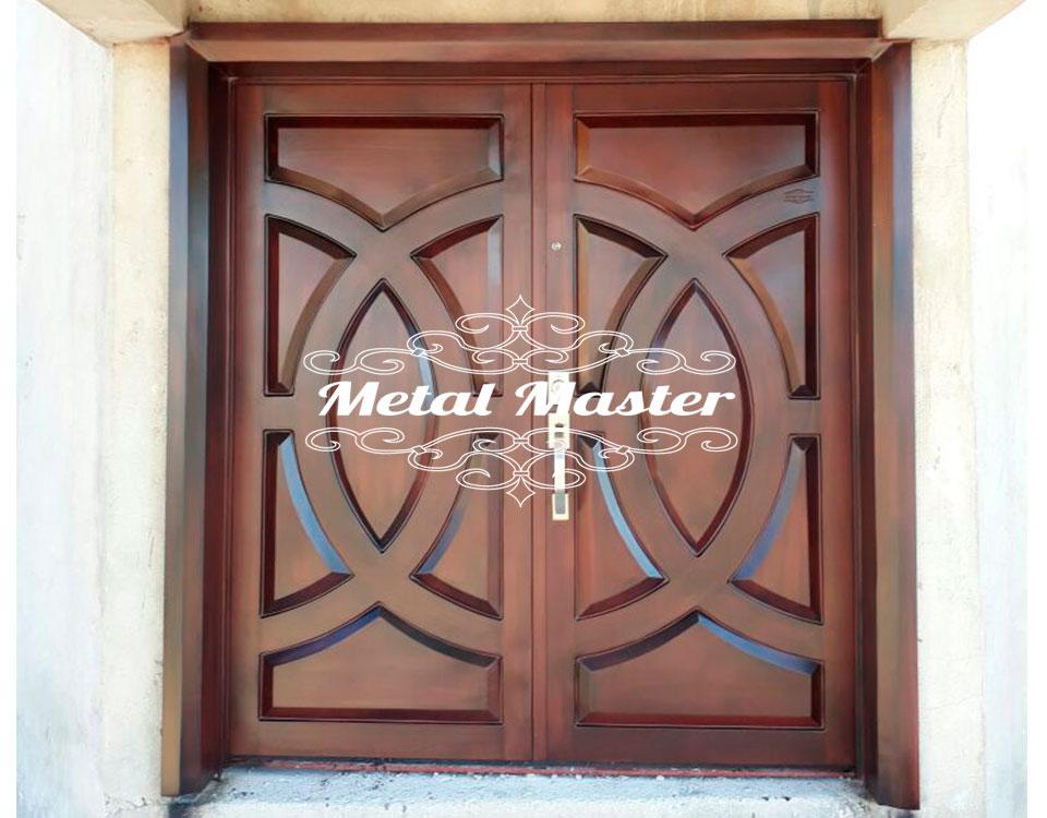 Puertas imitaci n madera metal master for Puertas imitacion madera exterior